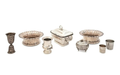 A Group of Silver-Plate Holloware Articles