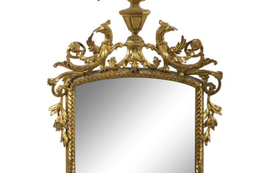A Louis XV Style Carved Giltwood Mirror