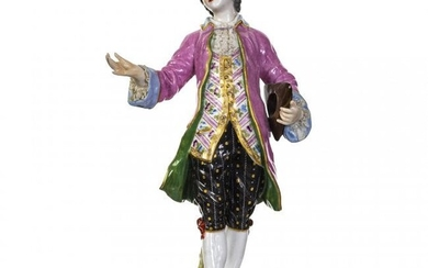 A Meissen Porcelain Figure of a Gentleman
