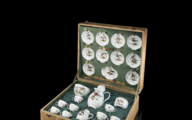 A porcelain Meissen service, second half of the 18th...