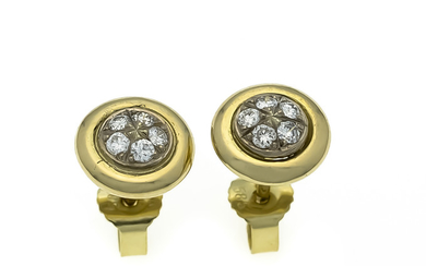 Brilliant stud earrings GG / WG 585/000 with...