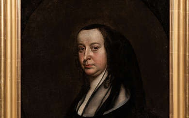 British School, 17th Century Style Portrait of a Woman, Said to be Elizabeth Cromwell (née Bourchier)