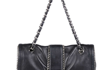 CHANEL - a black Chain Me Around Flap handbag.