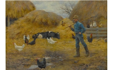 CHARLES COURTNEY CURRAN | IN THE BARNYARD