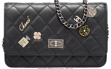 Chanel Limited Edition Black Lucky Charms Wallet on Chain...