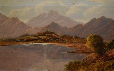 Charles Leslie, pair of 19th Century oil on canvas, mountain...