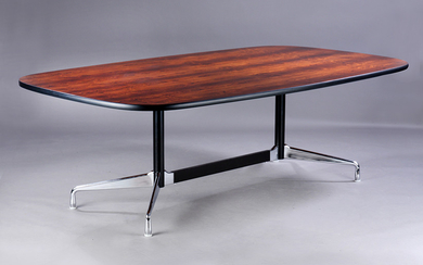 Charles and Ray Eames. Vintage table, 'Segmented Table' Brazilian rosewood. L. 222 cm