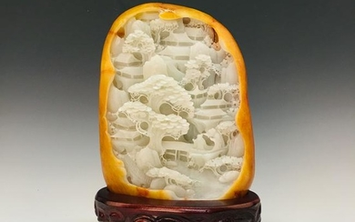 Chinese Hetian Jade Decoration with Certification