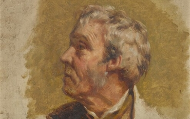Circle of Sir Edwin Henry Landseer, Head study of a man in profile