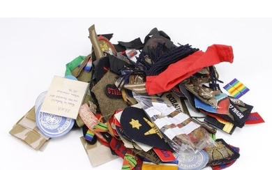 Cloth Badges: Large Group of WW2 and later mostly British Ar...
