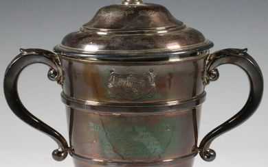 ENGLISH SILVER 1929 'SELIMA STAKES' HORSE RACE TROPHY