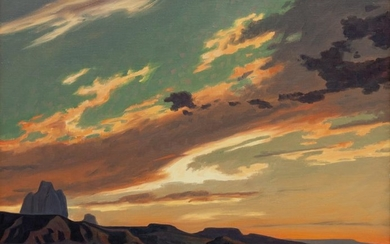 Ed Mell (American, b. 1942) Evening Cast/ Monument