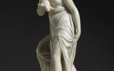 FRENCH LATE 18TH CENTURY, PROBABLY ATTRIBUTED TO JOSEPH (C. 1740-AFTER 1807) OR JEAN-BAPTISTE IGNACE BROCHE (1741-1794), A STANDING WOMAN MOURNING A DOVE