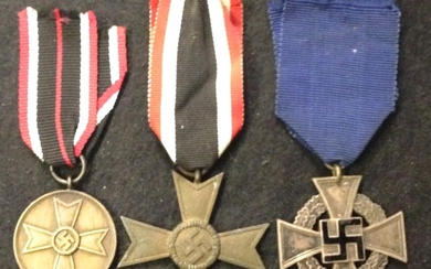 Germany - War Merit medal, Cross and 25 Year Faithful Servic...