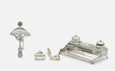 Gorham Manufacturing Company, inkstand and letter scale