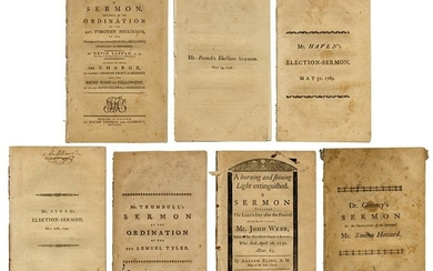 Group of Seven Sermons, Mostly Boston Imprints.
