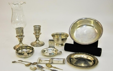 Grouping of Sterling Silver Tableware