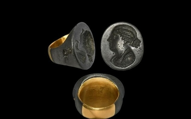 Hellenistic Ring with Bust of Berenike II
