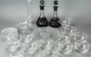 Lot of Crystal & Glass Serving & Decorative Items
