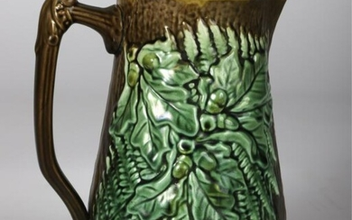 MAJOLICA OAK LEAF PITCHER