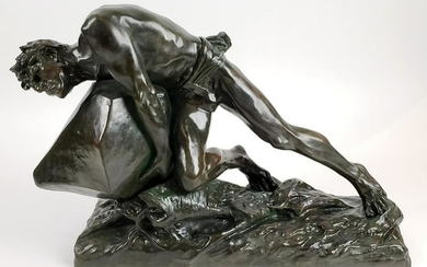 Magnificent 19th C. Edouard Drouot Signed Bronze