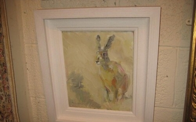 "Oil Painting by Con Campbell ""The Irish Hare"" - 30cm x 24cm"