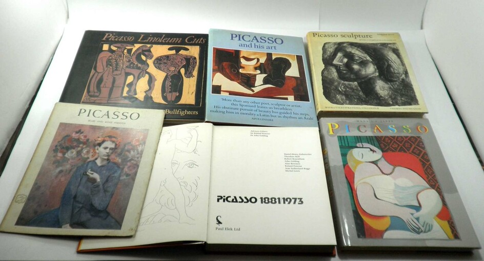 Pablo Picasso (1881-1973), Collection of 6 Books about the Artist's Works