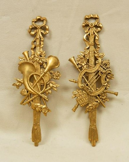 Pair of French Giltwood Wall Plaques