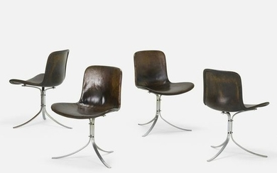 Poul Kjaerholm, PK 9 chairs, set of four