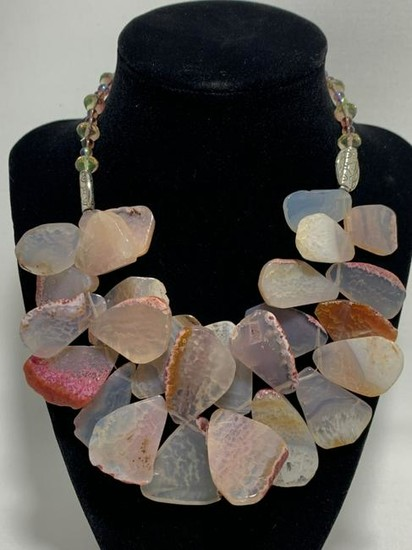 ROSE QUARTZ ENORMOUS GEMS BOLD CHOKER