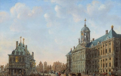 Signed D.K. Kok, 1768, View of Dam Square...
