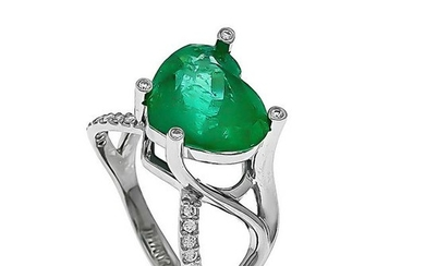 TIFFANY CO emerald-diamon
