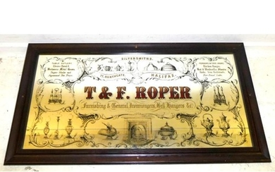 T&F Roper Electro Plated Silversmiths Advertising Wall Mirro...