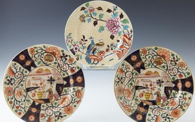 Three Oriental Motif Plates, consisting of a Copeland