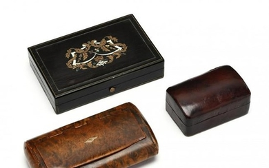 Three Small Antique Boxes