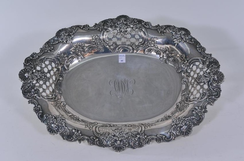 Tiffany & Co. Makers sterling silver floral and shell