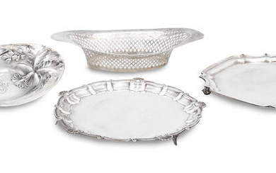 Two silver salvers