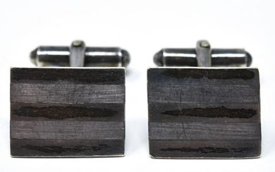 VI Pair 1960s Mexico Sterling Silver Cuff Links
