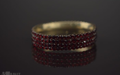 Victorian Yellow Gold and Garnet Bangle