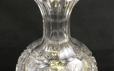 Vintage Fine Cut Crystal Wine or Liquor Decanter