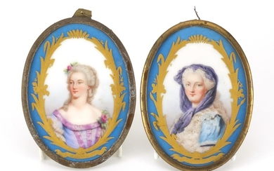 ** WITHDRAWN ** Pair of 19th century Sevres portrait panels,...