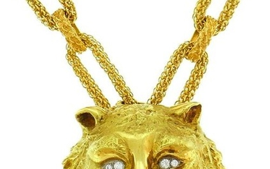 Wander Yellow Gold Leo PENDANT NECKLACE Pin Brooch