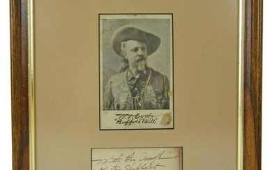 "William ""Buffalo Bill"" Cody 2x Signed Display"
