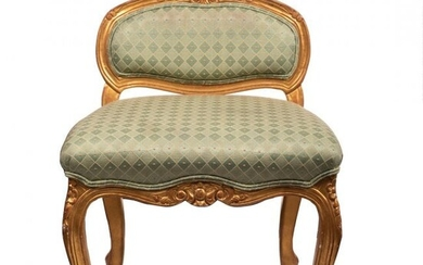 William IV style Parcel-Gilt Chair