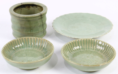 (lot of 4) group Longquan Celadon Wares