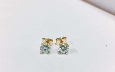 1.20ct Diamond solitaire earrings set with brilliant cut...