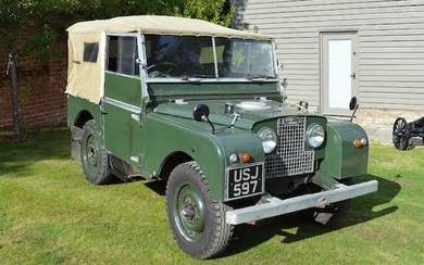 1951 Land Rover Series 1, Registration no. USJ 597 Chassis no. 26102623