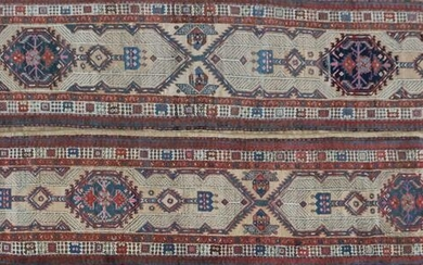 2 Oriental hand-knotted wool runners