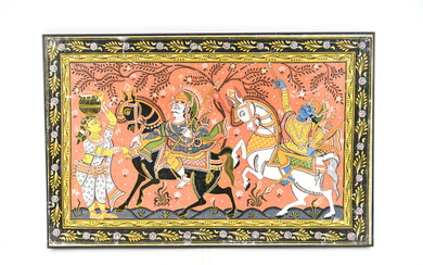 20TH CENTURY INDIAN PAINITING ON CANVAS