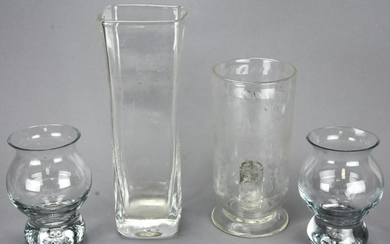4 Contemporary Glass Containers & Simon Pearce